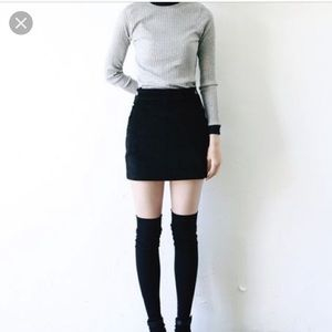 J.crew black mini skirt